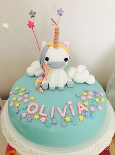 Einhorn cake: 67 great ideas as inspiration for the children's birthday - Kuchen - Cupcakes Pretty Cakes, Cute Cakes, Beautiful Cakes, Amazing Cakes, Unicorn Cake Topper, Unicorn Cakes, Unicorn Party, Unicorn Head, Baby Unicorn