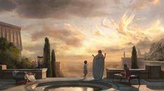 ArtStation - Cloud Painter, Gal Or Fantasy Concept Art, Fantasy Art, Fantasy Places, Fantasy Setting, Classical Art, Medieval Fantasy, Ancient Art, Graphic Art, Scenery