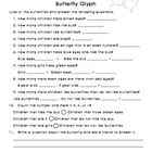 This glyph includes analyzing the data with greater than, less than, addition and subtraction. Have children color the butterfly according to their...