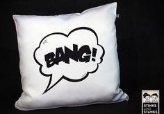 "Kissen // Pillow ""BANG!"" by stinksandstanks via DaWanda.com"