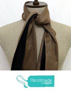 Scarf black, beige double sided wool - SC115 from Nazo Design https://www.amazon.com/dp/B01FPSZCJK/ref=hnd_sw_r_pi_dp_yiy6xbY40V31Q #handmadeatamazon #nazodesign