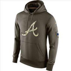 Men s Atlanta Braves Nike Olive Salute To Service KO Performance Hoodie 54c9836d2