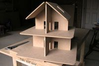 Dollhouse. Can be taken apart and stored flat.