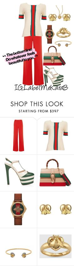 """KB013"" by labelmekarab on Polyvore featuring Alice + Olivia, Gucci and gucci"