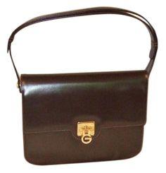 2665e80ae5d Top Handle Shoulder Vintage Rich Deep Brown Calf Skin Smooth Leather Satchel