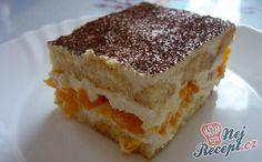 Recept Tiramisu s mandarinkami Czech Recipes, Ethnic Recipes, Austrian Desserts, Keks Dessert, Sweet Bakery, Sweet And Salty, Sweet Desserts, Party Cakes, Cake Cookies