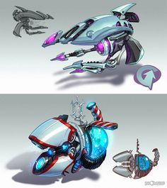 Ratchet & Clank - concepts Creature Box & with Insomniac Games - The Gravtether and the Winterizer