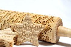 Chevaux relief gravée de rouleau à pâtisserie par HousemateArtist
