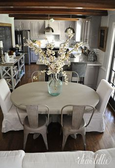French Bistro Chairs in our Kitchen by Dear Lillie