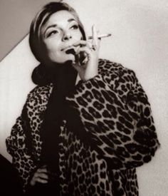 Anne Bancroft-leopard skin jacket, mature style (even though she was only in her 30s!)