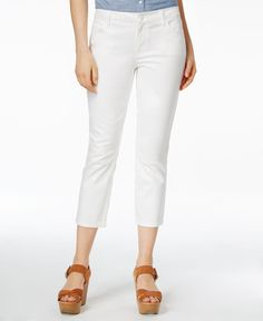 Tommy Hilfiger Cropped Skinny Jeans, White Wash Women - Jeans - Macy s 87be4062b3