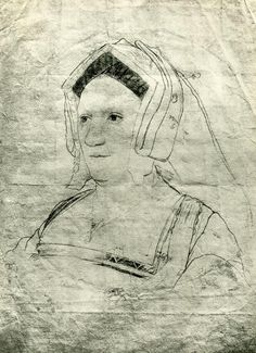 Believed to be Margery Wentworth, mother of Jane Seymour || Margery's first cousins, Elizabeth and Edmund Howard, were parents to two other of Henry VIII's wives, Anne Boleyn and Catherine Howard. Wentworth was also the granddaughter of King Edward III. This link to royalty is partly why Jane Seymour (her daughter) was more attractive to Henry VIII when he married her. The poet John Skelton called her his muse as she was considered a great beauty by Skelton and others.