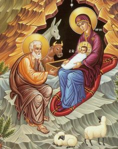 nativity of christ orthodox icon -