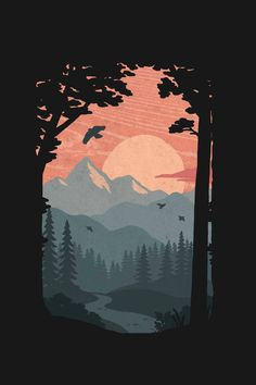Along the Trail Scenery Wallpaper, Wallpaper Backgrounds, Iphone Wallpaper Drawing, Screen Wallpaper, Wallpaper Quotes, Aesthetic Iphone Wallpaper, Aesthetic Wallpapers, Natur Wallpaper, Desenho Pop Art