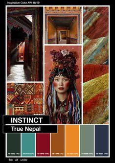Instinct fall winter 2018/2019 color inspiration moodboard #trends #winter20182019 #winter2019 #colourinspiration #theculthunter #colormoodboard #nomadic #nomadictrend