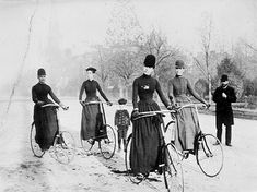 """""""North Avenue cyclists, North Side of Pittsburgh, 1898. Frank E. Bingaman. [Carnegie Library of Pittsburgh]"""""""