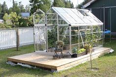 Växthus på trädäck