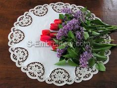 Freestanding lace + fabric doily
