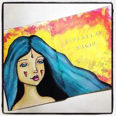 Essential Magic. That is what art is to me. #mixedmedia #artjournal #artist #portrait #irisimpressionsart