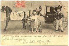 1902 ORIGINAL Antique Collotype Postcard / DANDY by UCRONIA