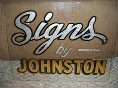 sign shop lettering
