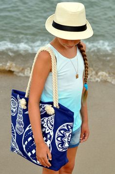 All we need is... BLUE! - ✰ Justine ωith Ruth ✰ Our love to live - Uroda, Moda i…  Hat and bag from Szaleo.pl