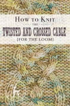 Twisted Knit Stitch Round Loom : 1000+ images about knitting on Pinterest Loom knit, Loom and Loom knitting