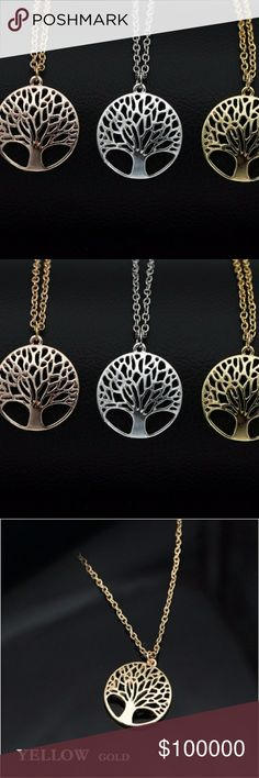 """New!! Silver & Gold Tree of Life Totem Necklace Brand NWT in original packaging Trendy top quality silver tree of life necklace  18"""" link chain length + extender (adjustable) lobster claw clasp closure  silver tree of life totem caged in an open circle pendant top of the market, high quality silver plating. nickel & lead free This listing is for silver necklace, Other available colors in separate listing! Bundle & save 20%!! Jewelry Necklaces"""