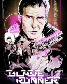 Blade Runner by Harijs Grundmanis. #poster #posterdesign #posters #plakat #movie #movieposter #typo #typography #art #artoftheday #alternativemovieposter #artist #плакат #постер #фильм #кино #типография #художник #арт #рисунок #рисование #искусство #harrisonford #bladerunner #бегущийполезвию