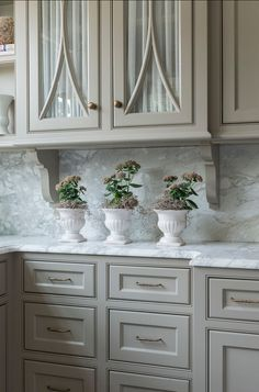 "Kitchen Cabinets. Great Kitchen Cabinet Design. #Kitchen #Cabinet #Design Paint Color: ""Fieldstone 1558 by Benjamin Moore""."