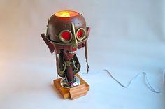 Bédélys trophy / lamp by Karl Dupéré-Richer #trophy #lamp #sculpture #steampunk