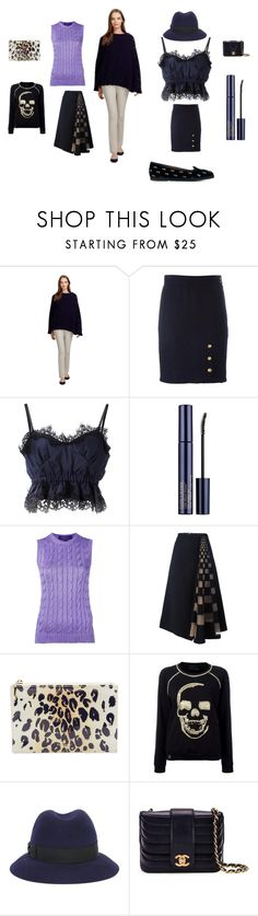 """untitled#26"" by emmamegan-5678 ❤ liked on Polyvore featuring Brooks Brothers, Chanel, Sacai, Estée Lauder, Ralph Lauren Purple Label, Fendi, Kate Spade, Philipp Plein, Borsalino and Aquazzura"