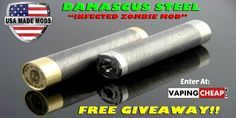"Enter to WIN a Limited Edition Damascus Steel ""Infected"" Zombie Mod made by USA Made Mods!"
