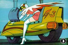 Princess on her motorcycle from Battle of the Planets