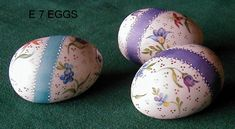 Gloria McCarthy, she has exquisite hand painted porcelain and bisque. http://www.gloriamccarthy.com/images/E_7_DRESDEN_EGGS_X_3.JPG California China Painter!