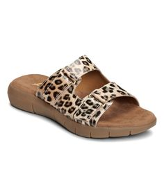 Look at this A2 by Aerosoles Leopard Tan Wip Band Sandal on #zulily today!