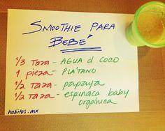 Green smoothie para bebés