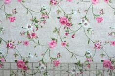TKANINA dekoracyjna Małe róże