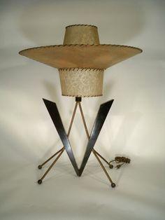 Vintage Majestic Mid Century Lamp Atomic Retro Mad Men Eames Era | eBay
