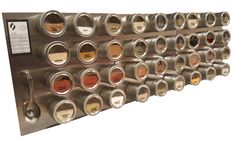 PRODUCT DETAILS  36 large MAGNETIC SPICE TINS (4 oz. jars). Perfect for pouring, sifting or scooping spices while cooking.   If YOU choose: 12X12 STAINLESS STEEL SHEET for mounting on the wall, door or any other surface, if you choose WITH stainless steel plate (comes with hardware to hang) with easy to follow instructions PLUS A VIDEO GUIDE to follow during installation.  30 clear SPICE LABELS + 12 FREE custom labels (upon request after purchase). Just send forward your order confirmation…