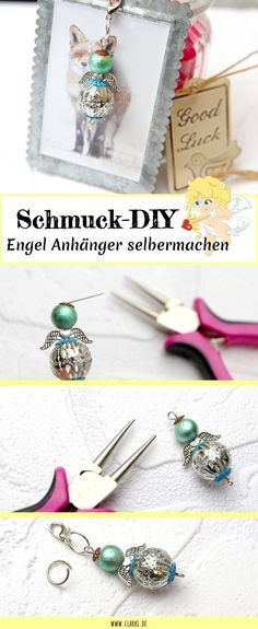 DIY Schmuck: Engel Anhänger aus Perlen einfach selber machen – Tizian Bredow … DIY Jewelry: Angel Pendant made of pearls easy to make yourself – Titian Bredow – Diy Jewelry Rings, Diy Jewelry Unique, Diy Jewelry To Sell, Diy Jewelry Tutorials, Jewelry Tags, Beaded Jewelry, Beading Tutorials, Handmade Jewelry, Pendant Jewelry