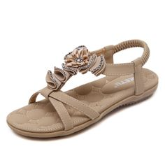 Summer Fashion Woman National Wind Shoes Bohemian Flowers Diamond Sandals Grils | eBay
