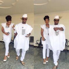 Bae + Boo ❤️ Super Stylish Couple in Matching Outfits  Lovely @Beau_Diamond #WDNAsoEbi #WeddingDigestNaija