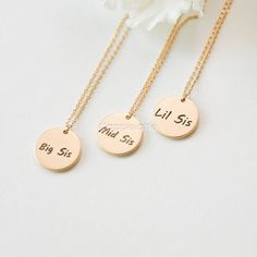 Hey, I found this really awesome Etsy listing at… Three Sisters Jewelry, Sister Jewelry, Love My Sister, Best Sister, Bestie Gifts, Sister Gifts, Things To Buy, Girly Things, Stuff To Buy