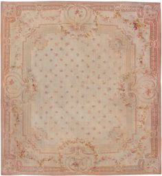 Antique Aubusson Rugs 8515 Thumbnail - By Nazmiyal