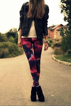 I'd wear tye dye pants alluringmelodies. Tye Dye Jeans, Tie Dye Pants, Dye Shirt, Tie Dye Fashion, Diy Fashion, Teen Fashion, Fashion Outfits, Autumn Winter Fashion, Fall Fashion