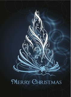 Designer Christmas Tree | Christmas Tree Design 7 4 vector Four Christmas Trees