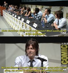 The Walking Dead Norman Reedus Comic con Daryl Dixon.... Effective