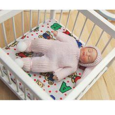 1 12 Scale Dollhouse Miniature People Figures Porcelain Dolls Sleeping Baby | eBay