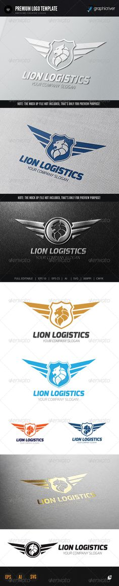 Lion Logistics Logo  #GraphicRiver         This logo design for all creative business. Consulting, Excellent logo,simple and unique concept.  Logo Template Features   AI and EPS (Illustrator 10 EP